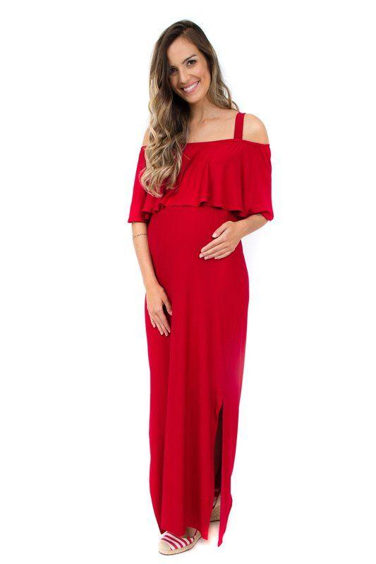 Vestido longo estampado valencia