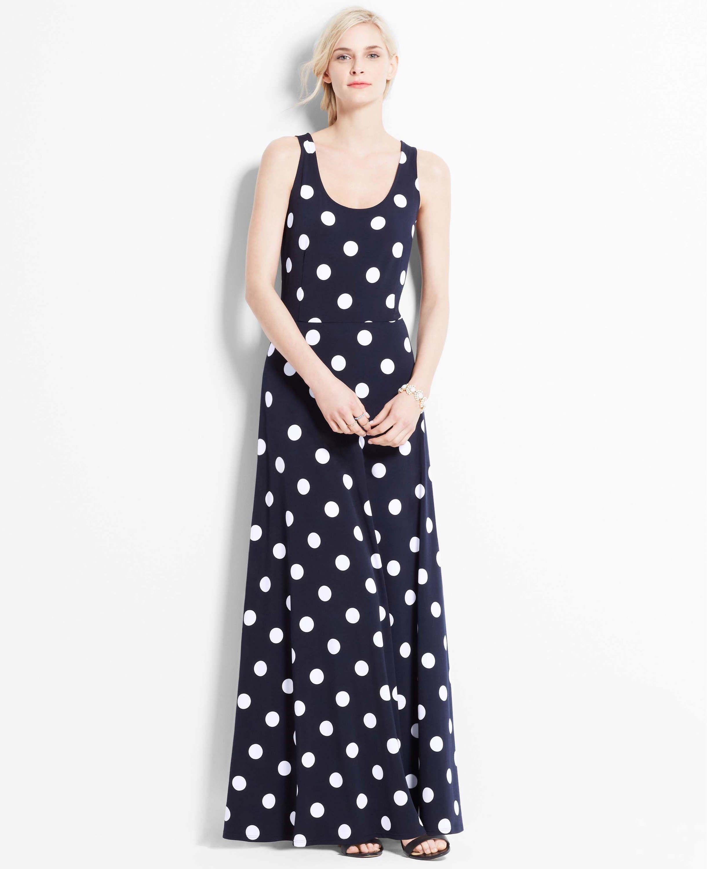 Polka Dot Maxi Dress Ann Taylor Tall Is 44 From Natural Waist