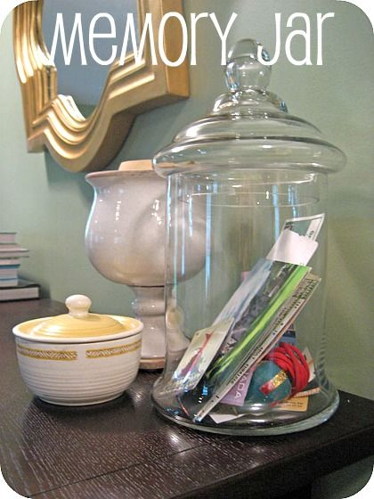 """I really want to have a """"memory/advice jar"""" at my graduation party."""