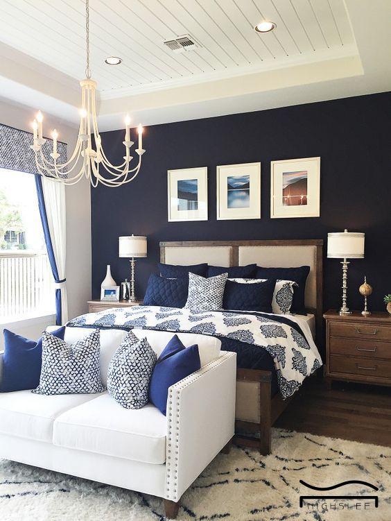 33 Epic Navy Blue Bedroom Design Ideas To Inspire You Blue Bedroom Decor Rustic Master Bedroom Home Decor Bedroom