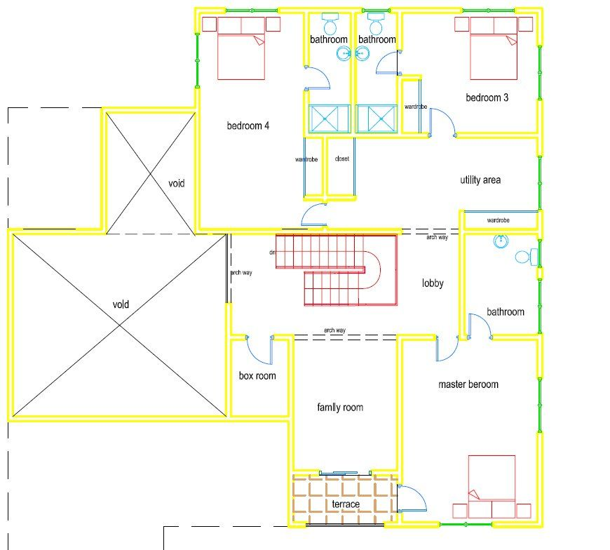 ghana house plans nii house plan