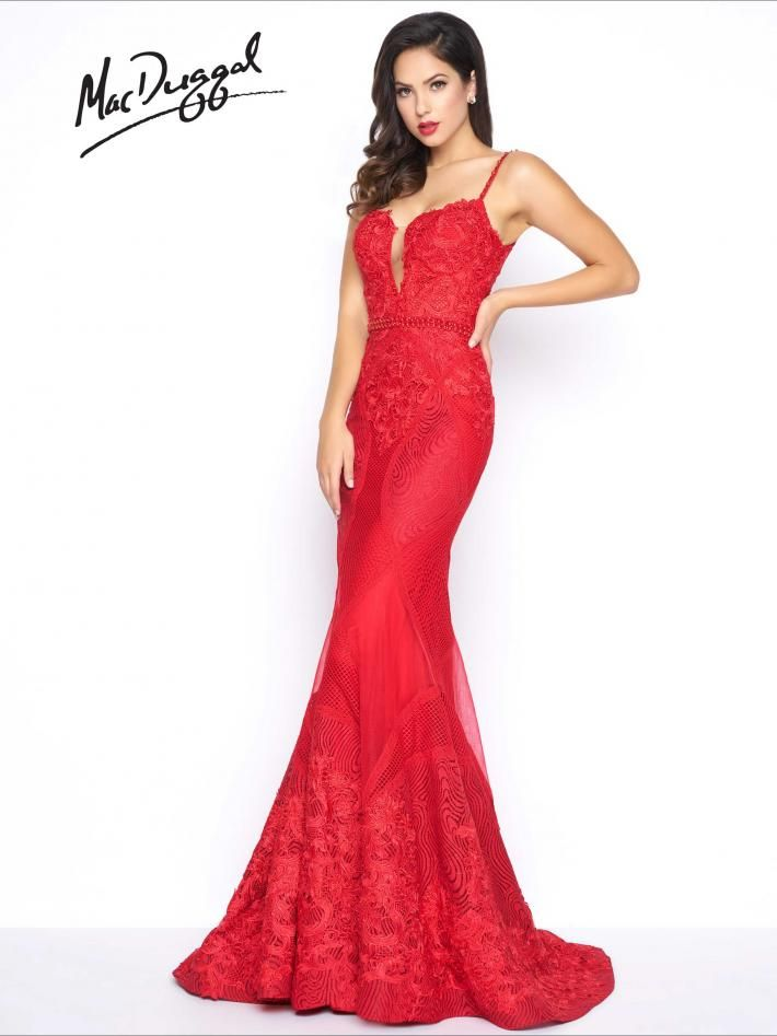 79082R | Mac Duggal | Red Prom Dresses | Pinterest | Macs, Gowns and ...