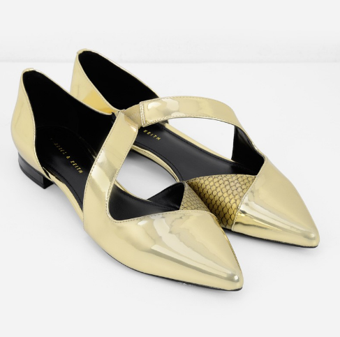 20 Fashion-Bride Wedding Shoes You'll Actually Want To Wear Again #refinery29  http://www.refinery29.com/wedding-shoes-comfortable#slide-3  If you're not a heels person, try a metallic flat.Charles & Keith Pointed D'Orsay Ballerinas, $49.90, available at Charles & Keith....