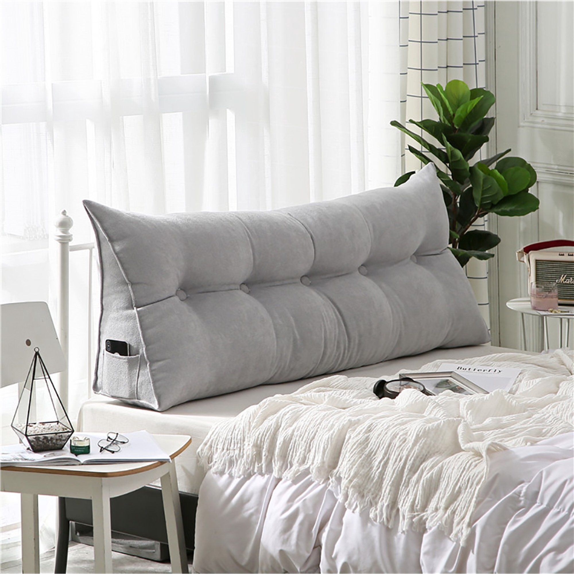 wedge pillow headboard for day bed