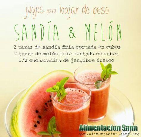 Jugo para bajar de peso: Sandía y Melón.