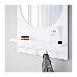 Ikea Saltröd Spiegel Mit Ablage Und Haken Weiß An Den Haken