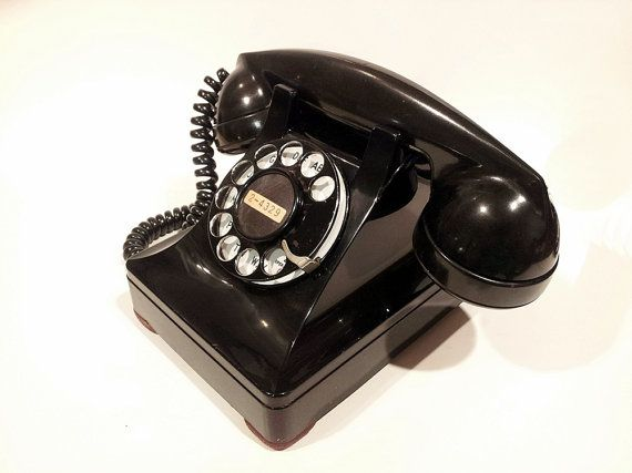 WORKING- Black Lucy 302 Rotary Phone 1946 | Home: General