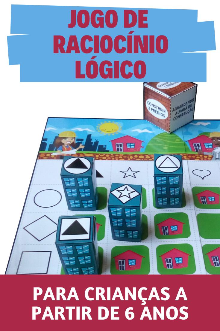 Jogo De Raciocinio Logico Jogos De Tabuleiro Para Criancas Jogos Raciocinio Logico