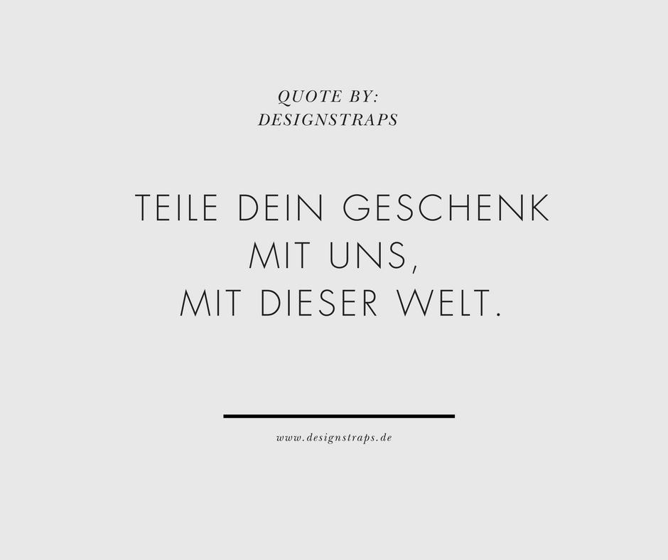 Heute schon dein Leben gefeiert? www.designstraps.de