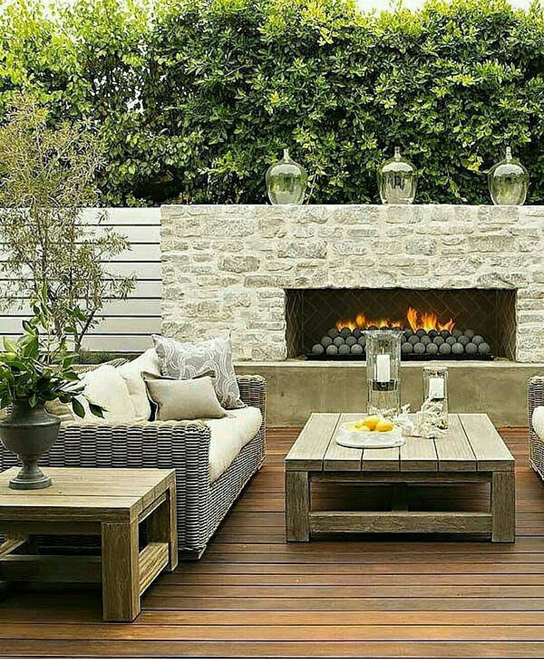 Fireplace And Privacy Fence Outdoor Fireplace Designs Backyard Fireplace Outdoor Fireplace