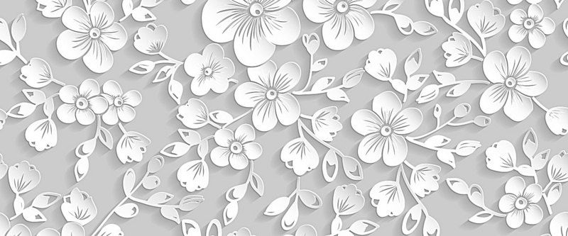 White Floral Pattern Seamless Background Free Texture Backgrounds Textured Background White Texture