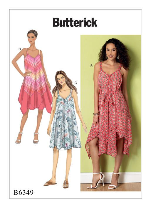 Floaty Sundress Sewing Pattern From Butterick B40 Misses Custom Sundress Sewing Pattern