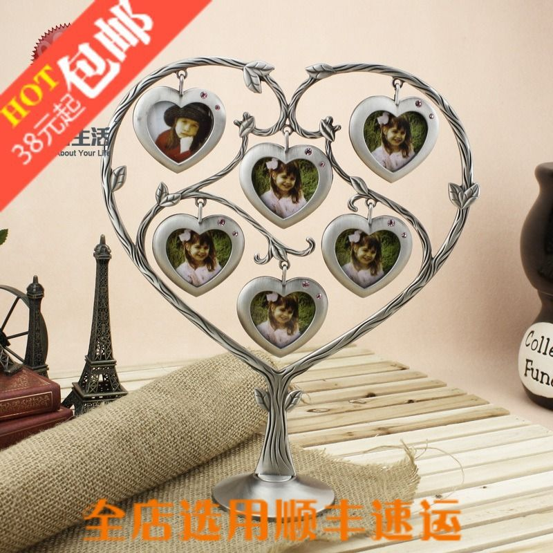 Home Decoration Personalized photo frame homeqi love shape diamond wishing tree photo frame   funny picture frame Free shipping US $45.04