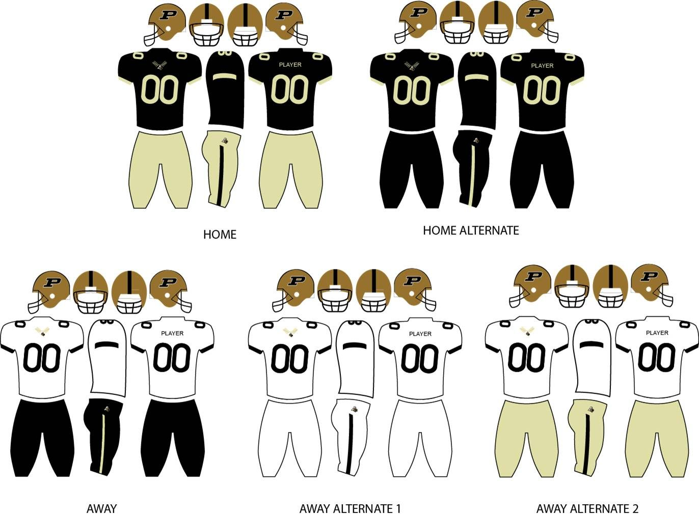 Purdue Boilermakers Football Team Uniforms Purdue Boilermakers Football Purdue Purdue Boilermakers