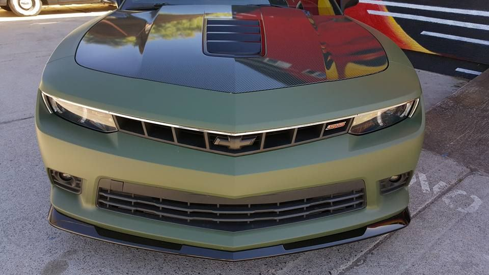 Vinyl Wrap Apex Customs Black Camaro Chevy Camaro Zl1 Green Camaro
