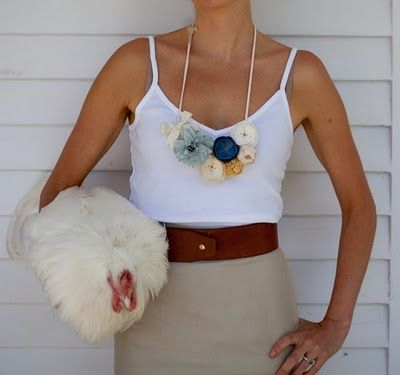 i love... this flower necklace by emersonmade and outfit