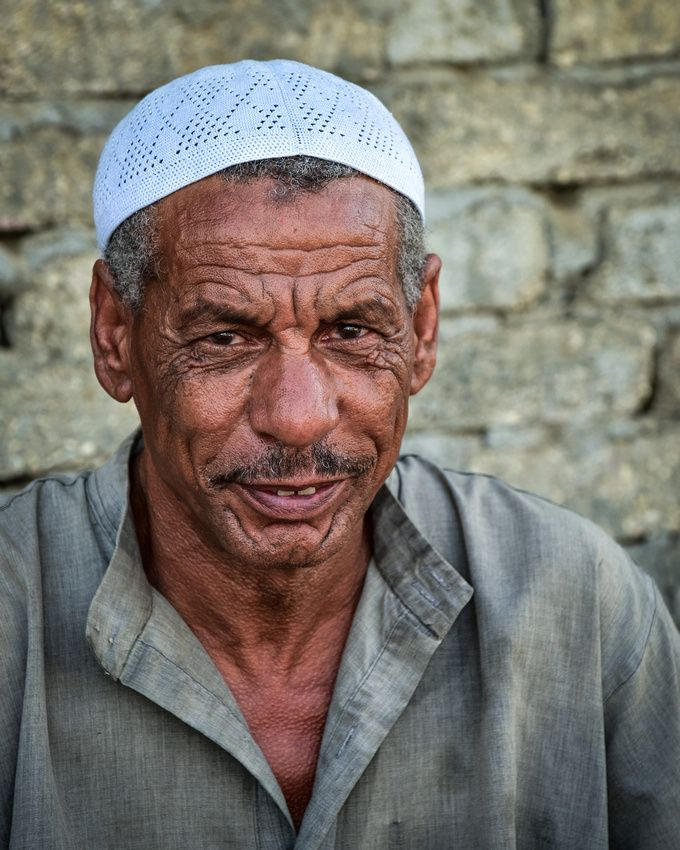 Old man from Luxor, Egypt