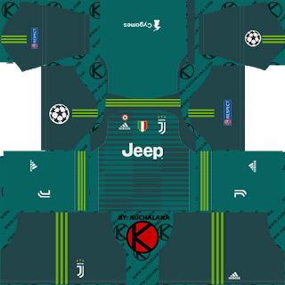 74231432e Juventus 2018 19 UCL Kit - Dream League Soccer Kits