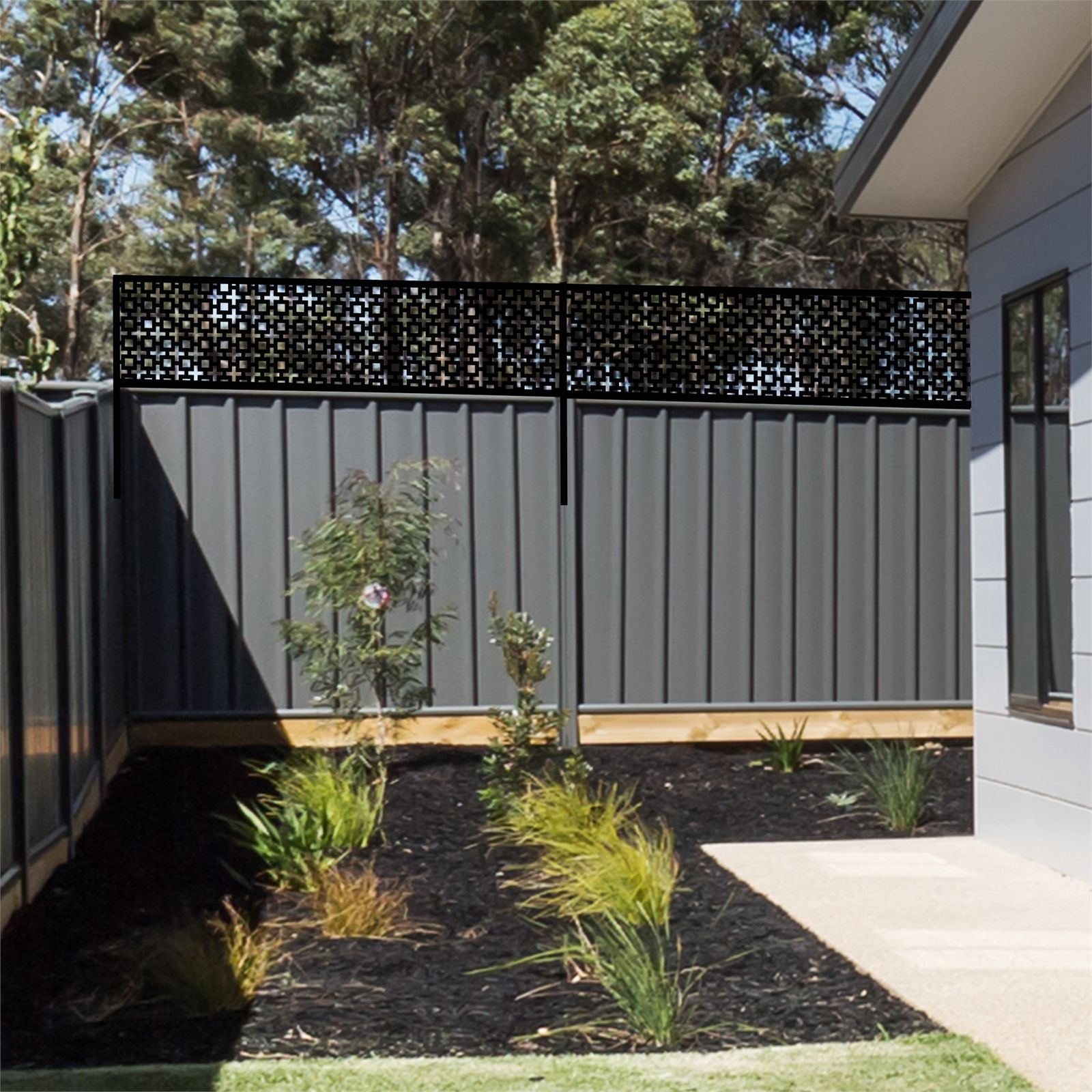Matrix 2400 x 600mm Charcoal Sahara Fence Extension (With ...
