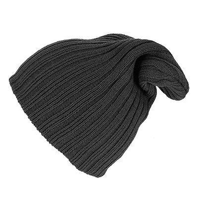 acbac9403fd Knitted Beanie Winter Mens Ladies Unisex Wooly Ski Turn Up Warm Hat Vintage  WIN