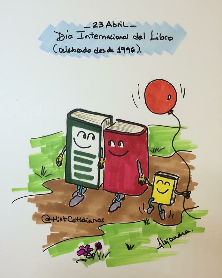23 de abril #diainternacionaldellibro (Ya sé que hoy es 22 pero mañana no tendré acceso a internet). by histcotidianas