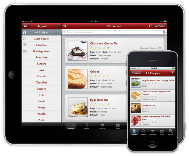 Paprika App for iPad. Great app. Excellent for organizing