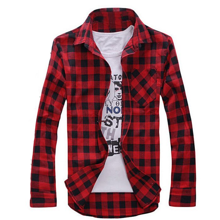 Find More Casual Shirts Information about New Arrival Long Sleeve Flannel Plaid Print Men Loose Shirt Checkered Casual Thin Shirts Slim Stylish Fashion Tops High Quality,High Quality shirt satin,China shirt sweater Suppliers, Cheap top mens shirts from MARK TIDY on Aliexpress.com