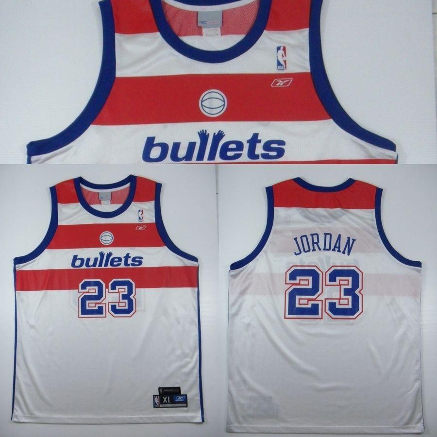 ed6e30114ec09 vintage michael jordan washington bullets jersey nba beebok L rare ...