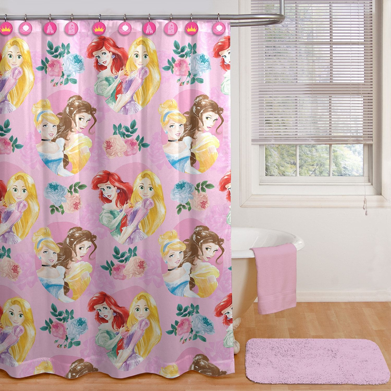 Princess Sassy Pink Shower Curtain Hooks Pink Sassy