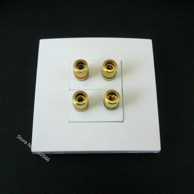 Banana Plug Wall Plate Extraordinary Wall Socket Plate For 51 Home Theater Sound System Speaker Terminal Inspiration