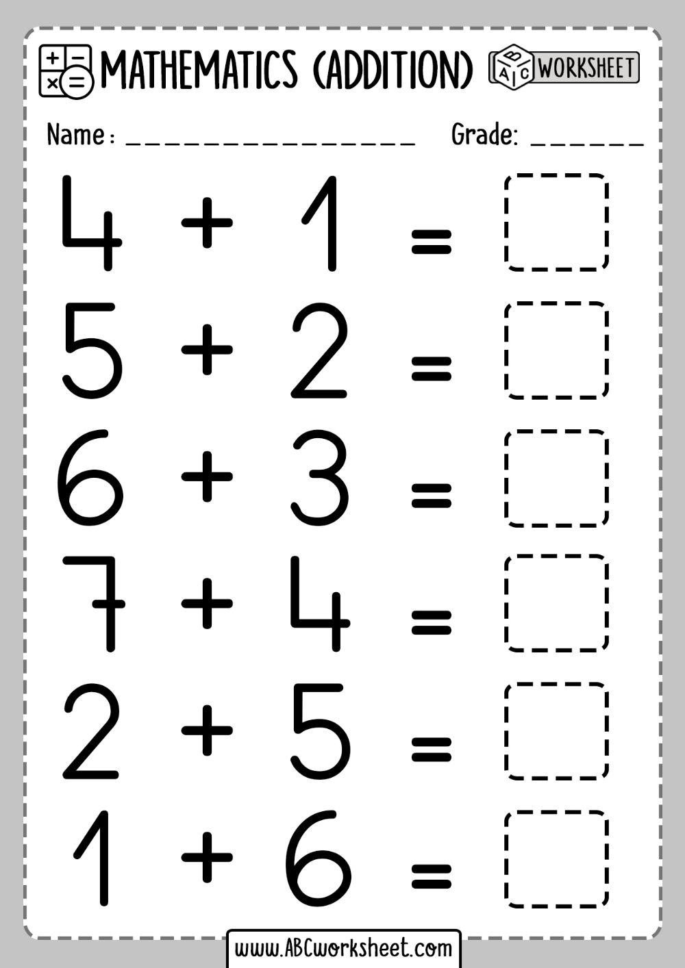 Addition activities for First grade Worksheets in 2020