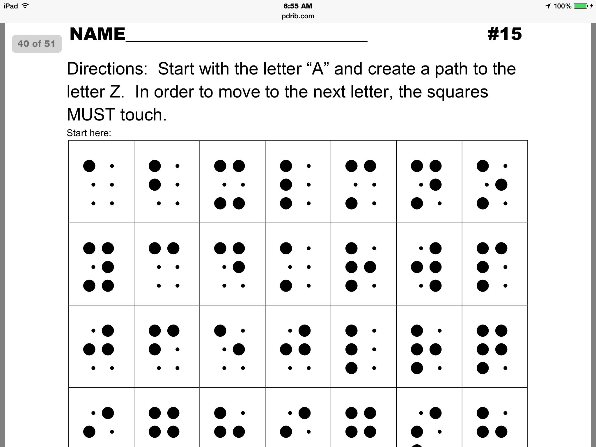 Braille Sheets Antaexpocoaching