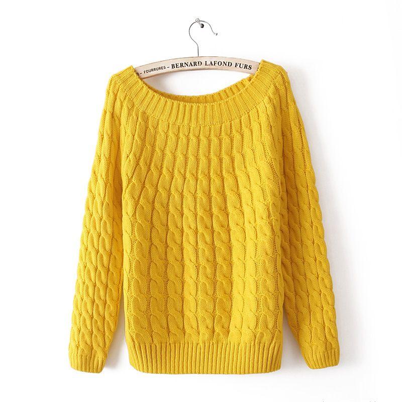 HOT Bán Autumn Winter 2016 Thời Trang Xoắn O-Cổ phụ nữ ấm áo len ...
