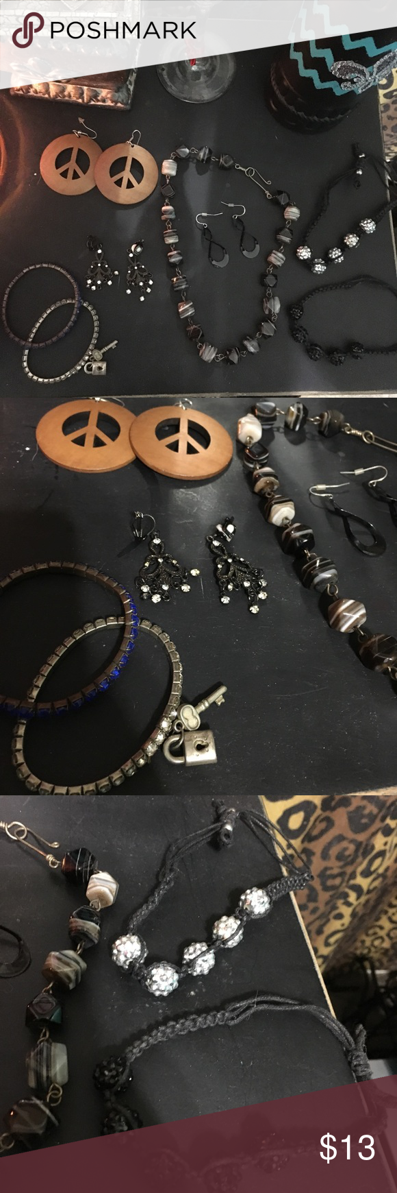Download Jewelry bundle Jewelry bundle consists of a pair of wooden ...