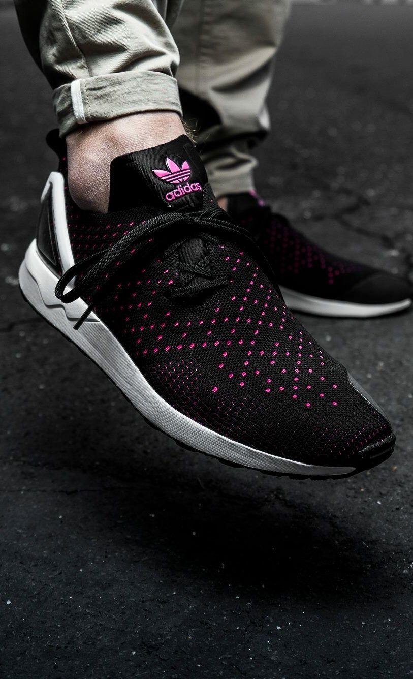 0f06267929f6 adidas Originals ZX Flux Asymmetrical  Black Pink
