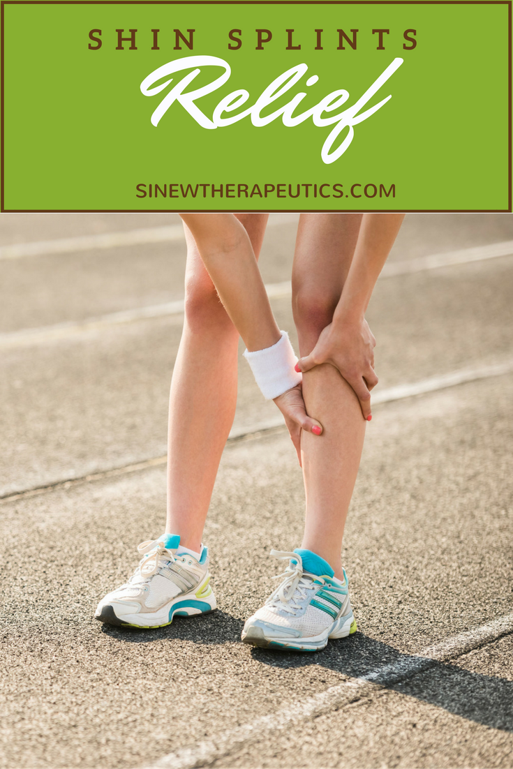 Shin Splints Relief  As ligaments and tendons stretch and tear