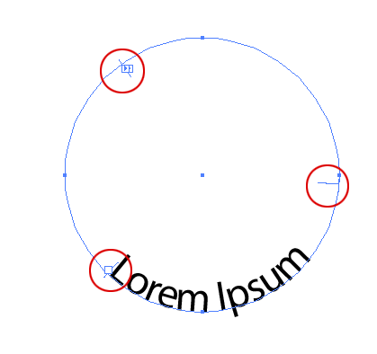 Making text follow the inside of a circle path in