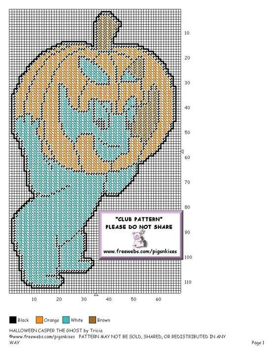 HALLOWEEN CASPER THE GHOST by TRICIA -- WALL HANGING | Plastic ...