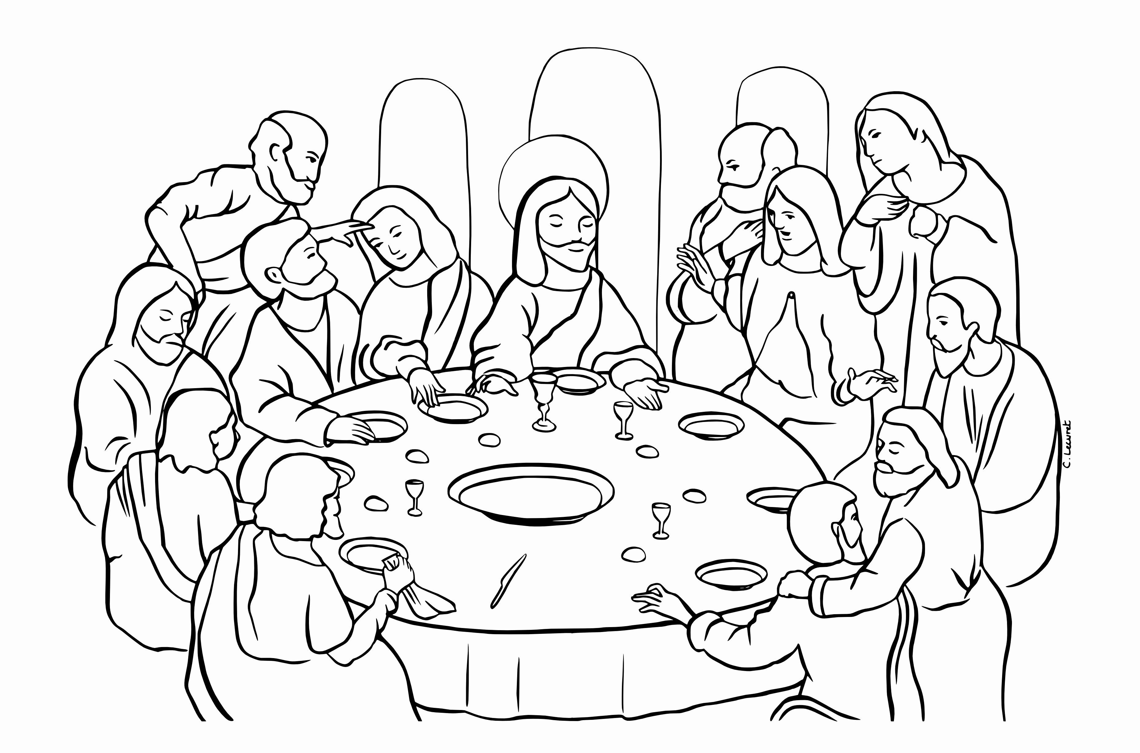 Last Supper Coloring Page Beautiful 44 Last Supper Coloring Page Last Supper Coloring Page Coloring Home Radiokotha