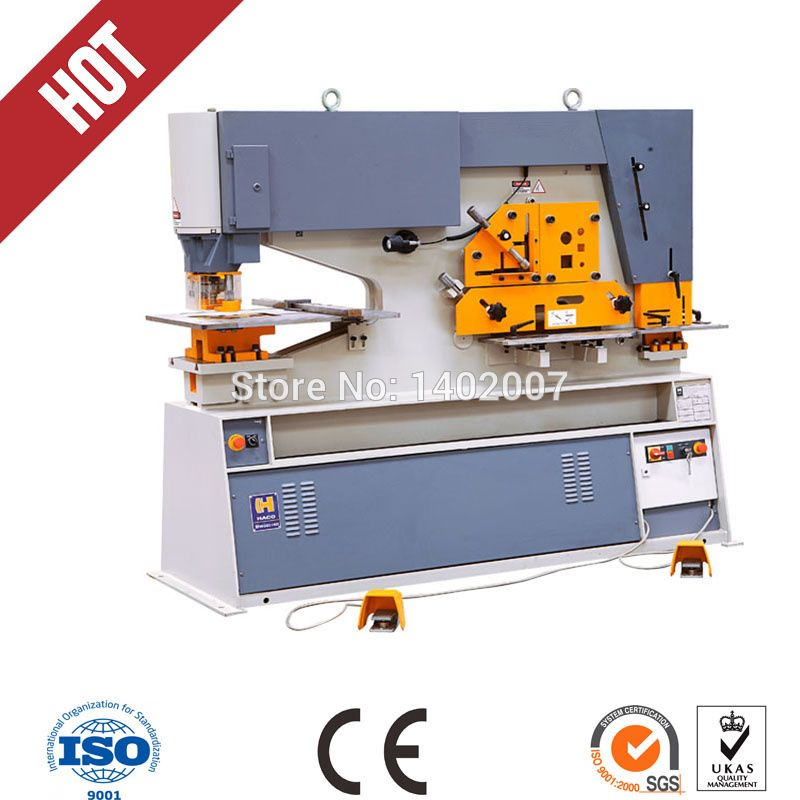 Q35y Hydraulic Ironworker Machine For Punching And Shearing Various Plate Ironworkers Hot Store Hydraulic