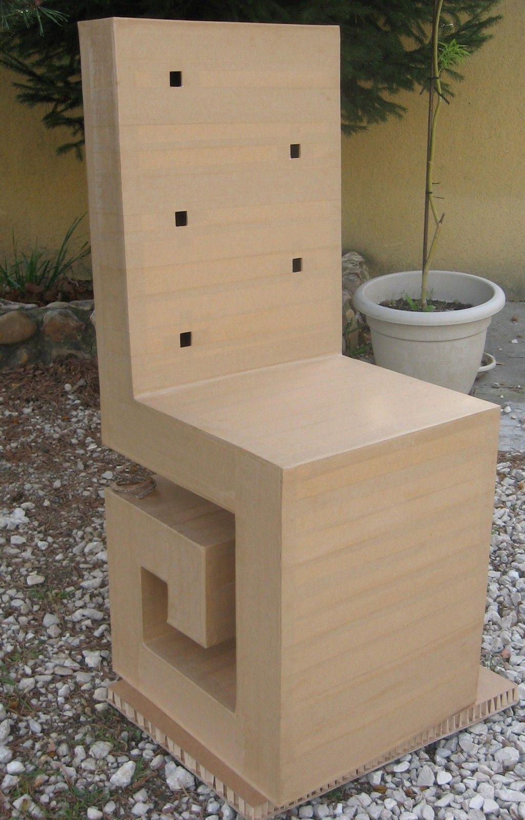 L Avancee Du Siege En Carton Meubles En Carton Marie Krtonne Chaise En Carton Meubles En Carton Mobilier De Salon