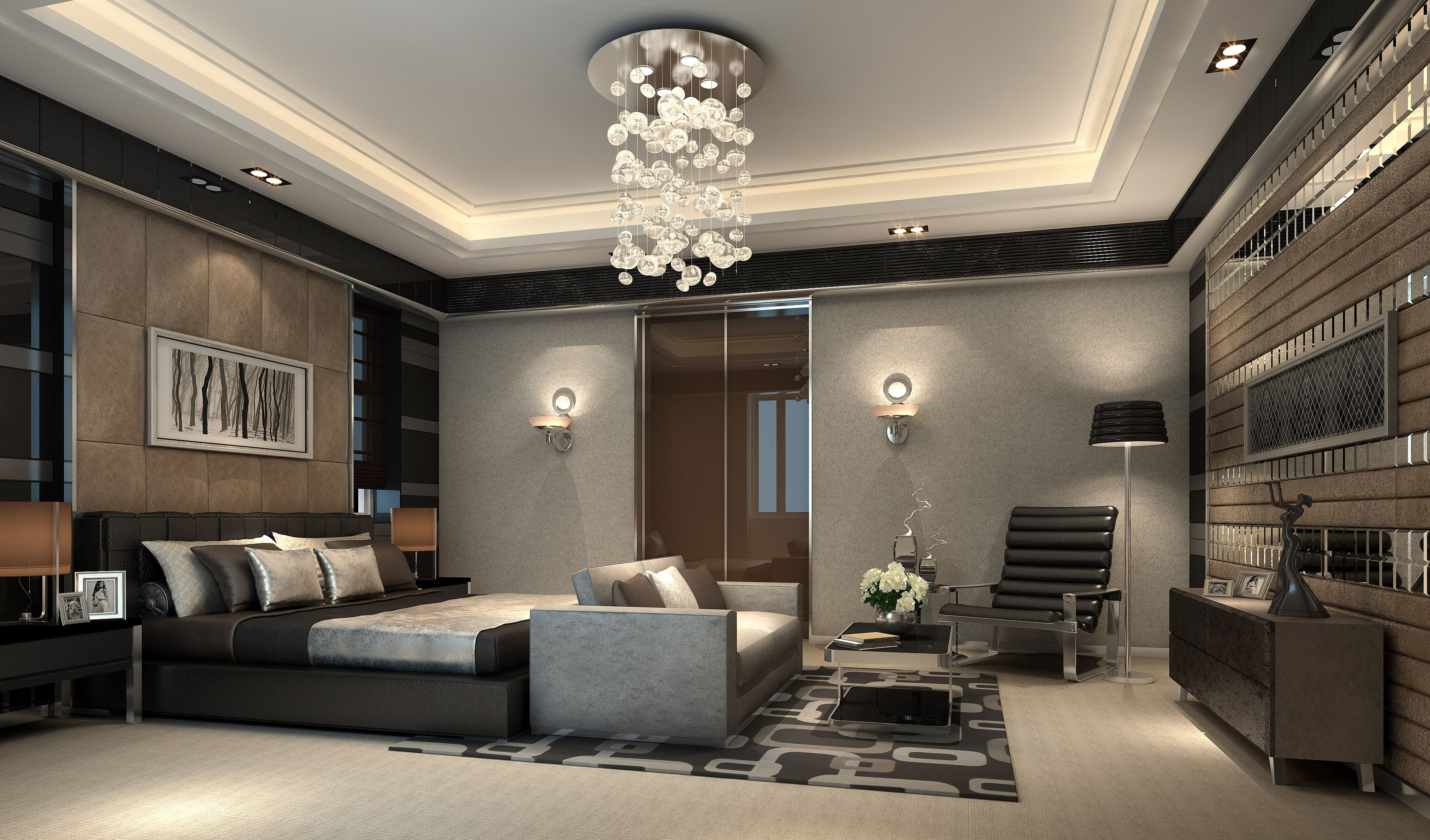 throughout luxury modern bedroom