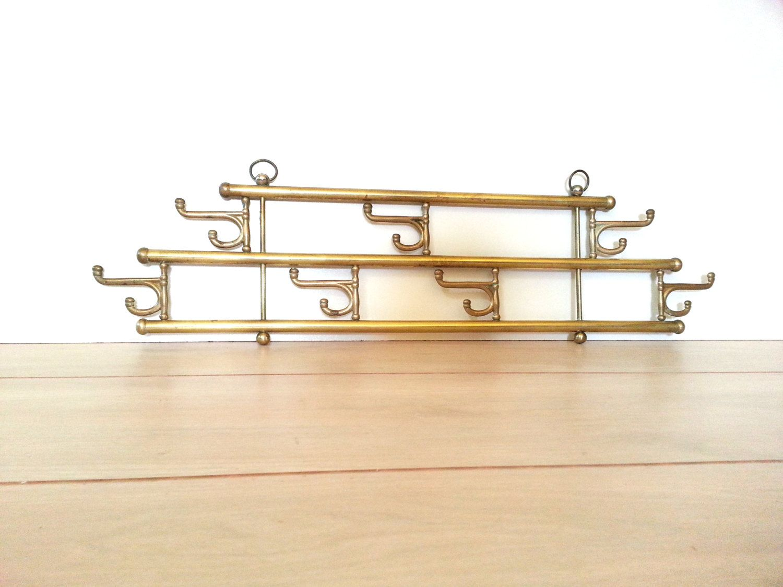 Vintage Brass Wall Hooks Wall Hat Rack, Coat Rack, Towel Hooks/ Rack, Mug  Rack With Folding Hooks