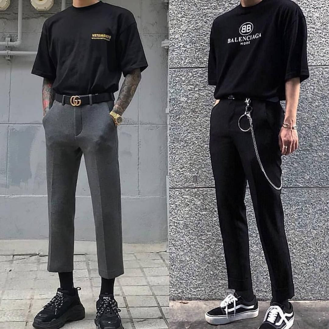 High End Archive On Instagram Left Or Right Gasparddal Korean Fashion Men Mens Trendy Outfits Mens Fashion Streetwear