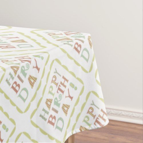Funky happy birthday picnic tablecloth | Zazzle.com ...