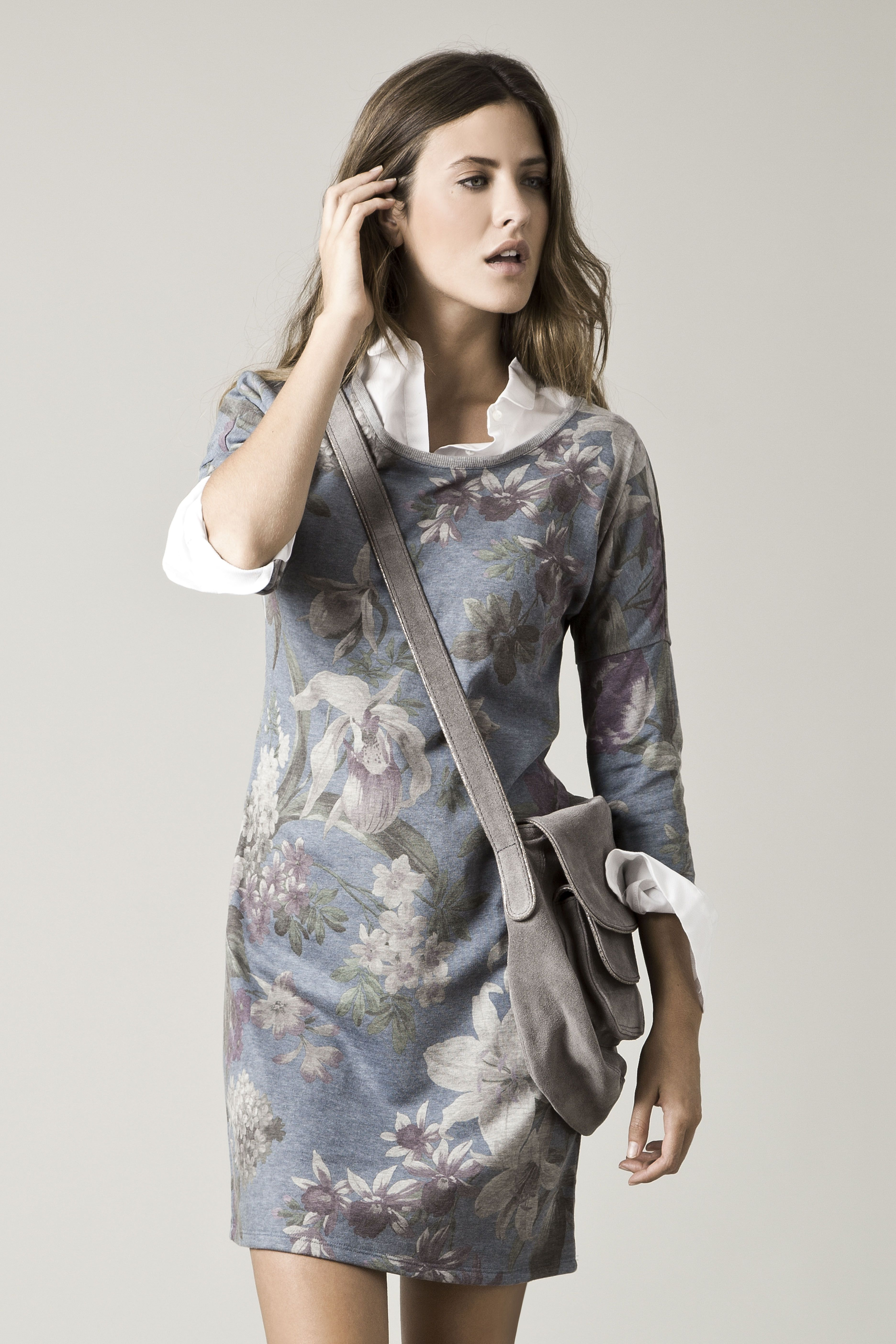 Floral sweatshirt dress  c7fe246c5
