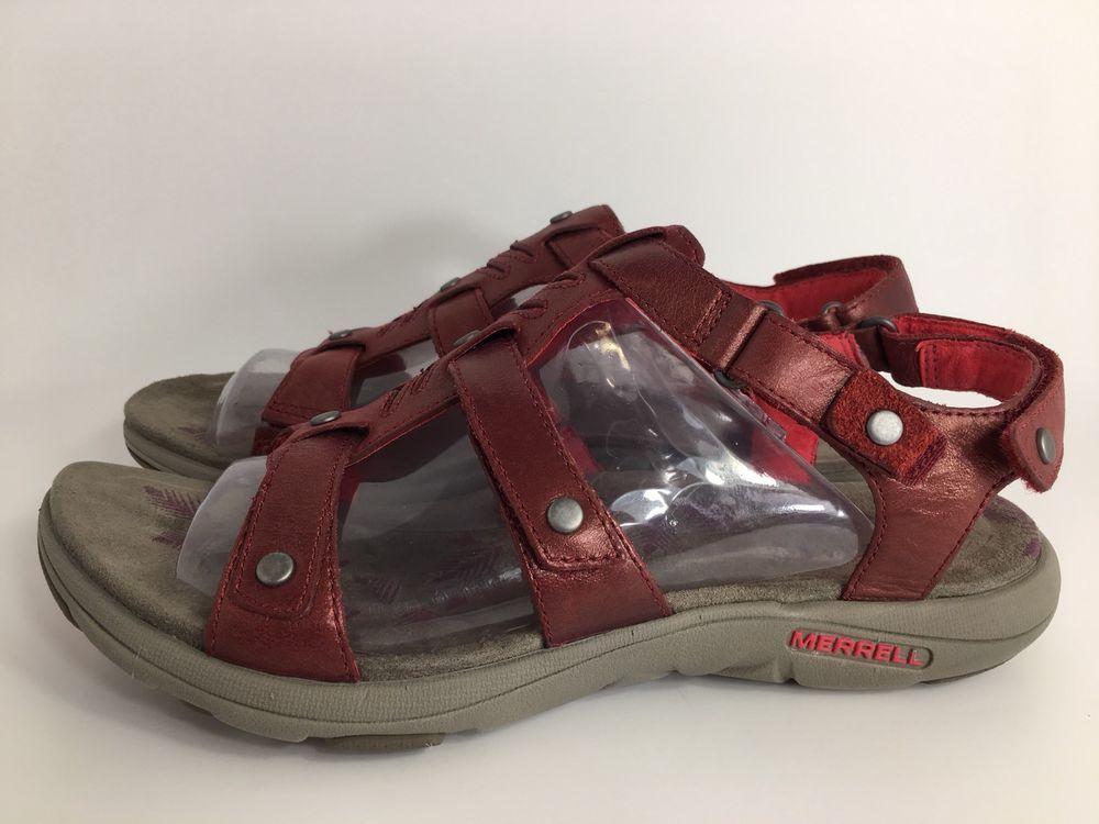 cb23aae5a5fe MERRELL Womens ADHERA Metallic Cranberry Leather