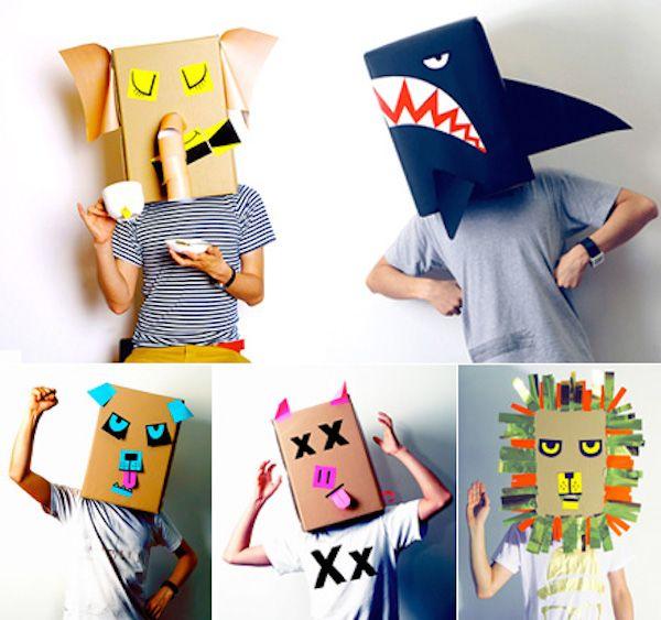 M scaras para ni os manualidades mascaras para ni os juguetes con material reciclado y - Mascaras para carnaval manualidades ...