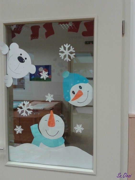 Decoraci n navide a con papel y moldes para imprimir for Decoracion de navidad para ventanas y puertas