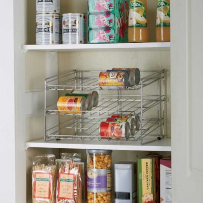 3 Tier Can Rack Closet Storage Systems Closet Shelving System Freezer Storage Organization